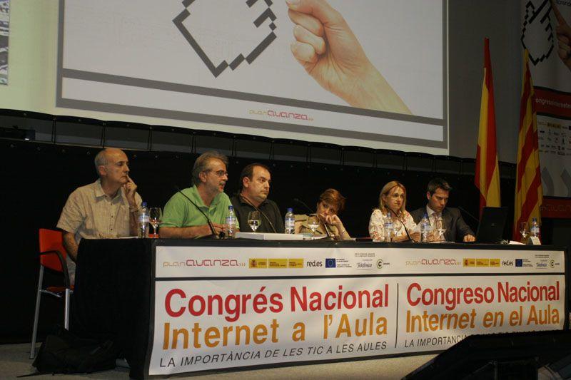 Mesa redonda en el I Congreso Internet en el Aula