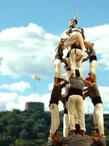 Castellers. Tirallongues de Manresa